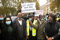 Nigerians protest outside downing st and parliament square due to the corruption and brutality of the Special Anti-Robbery Squad  that was disbanded on 11/10/20 and have called for the resignation of the president  over his handling of it.Photo by Brian Jordan
