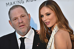 Harvey Weinstein and stylist Georgina Chapman attending amfAR's 23rd Cinema Against AIDS Gala during The 69th Annual Cannes Film Festival on May 19, 2016 in Cap d'Antibes, France. Photo by Lionel Hahn/ABACAPRESS.COM  | 547726_037 Cannes France