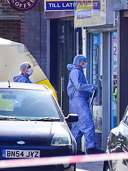 © Licensed to London News Pictures. 24/03/2019. LONDON, UK.  Forensics officers attend an address at Marsh Road, Pinner, north west London, after being called at approximately 06:00hrs on 24 March to reports of a man found suffering injuries from a reported stabbing.  He was pronounced dead at the scene by officers and London Ambulance Service.  Enquiries are ongoing, no arrests have yet been made.  Photo credit: Stephen Chung/LNP