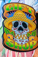 """Masks Y Mas"" store, Central Avenue SE (Historic Route 66), Albuquerque, New Mexico USA"