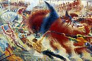 L'eveil de la cite' (The City Rises) 1910.. Umberto Boccioni (1882-1916) Italian artist.  Museum of Modern Art, New York