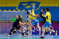 Radojica Cepic of Celje during handball match between RK Celje Pivovarna Lasko (SLO) and Paris Saint-Germain Handball (FRA) in Round of 16 of EHF Champions League 2020/21, on April 1, 2021 in Arena Zlatorog, Celje, Slovenia. Photo by Vid Ponikvar / Sportida