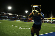 Cardiff Blues mascot. Guinness Pro14 rugby match, Cardiff Blues v Dragons at the Cardiff Arms Park in Cardiff, South Wales on Friday 6th October 2017.<br /> pic by Andrew Orchard, Andrew Orchard sports photography.