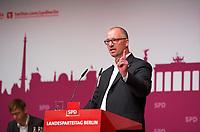 DEU, Deutschland, Germany, Berlin, 27.10.2012:<br />Der Vorsitzende des SPD-Landesverbandes Berlin, Jan Stöß (SPD), während seiner Rede auf dem Landesparteitag der Berliner SPD im Berliner Congress Center (BCC) am Alexanderplatz.