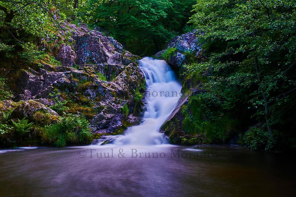 France, Nièvre (58), parc naturel régional du Morvan, Gouloux, le Saut de Gouloux //  France, Burgundy, Nièvre (58), Morvan park, Gouloux waterfall