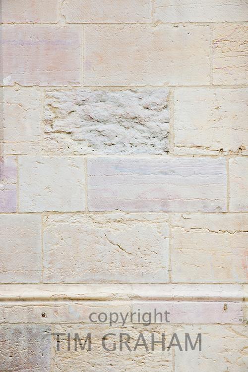 Renovated clean stone at the Ducal Palace, Palais des Ducs et des Etats de Bourgogne, at Dijon in the Burgundy region of France