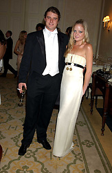 LADY ELOISE ANSON and CHARLES BEAMISH at a dinner hosed by Moet & Chandon at their headquarters at 13 Grosvenor Crescent, London on 12th October 2005.<br /><br />NON EXCLUSIVE - WORLD RIGHTS