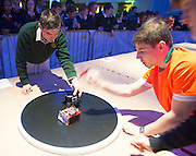 01/05/2015  repro free Action from Irish Robotics Championship where over 450 second level students competed for the coveted trophy supported by  EA Games. Photo:Andrew Downes: XPOSURE