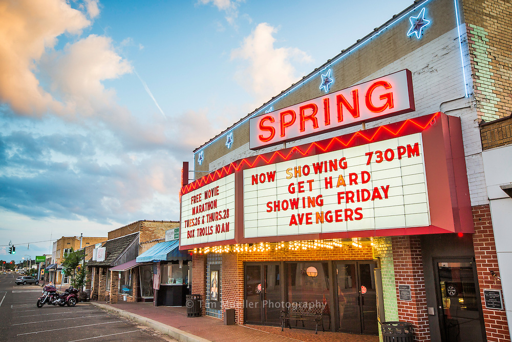 Originally constructed in 1946, the Spring Theatre in Springhill, La. has endured the boom and bust of main street. The 415 seat theatre boasts a 40' x 20' screen and a state-of-the-art Digital DTS sound system.