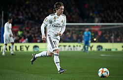 February 6, 2019 - Barcelona, Spain - Luka Modric during the match between FC Barcelona and Real Madrid corresponding to the first leg of the 1/2 final of the spanish cup, played at the Camp Nou Stadium, on 06th February 2019, in Barcelona, Spain. (Credit Image: © Joan Valls/NurPhoto via ZUMA Press)