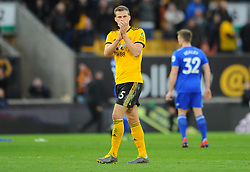 Ryan Bennett of Wolverhampton Wanderers tank fans at the final whistle  - Mandatory by-line: Nizaam Jones/JMP - 02/03/2019 - FOOTBALL - Molineux - Wolverhampton, England -  Wolverhampton Wanderers v Cardiff City - Premier League