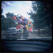 A balloon seller in Kabul.