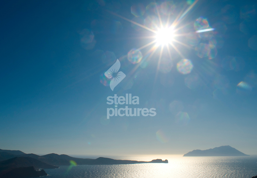 Picture by Daniel Hambury. .23/7/09.A view from Thalassitras church on the Greek island of Milos.