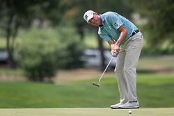 August 5, 2018 - Akron, OH, U.S. - AKRON, OH - AUGUST 05:   Matt Kuchar (USA) putts on the fifth green during the final round of the World Golf Championships - Bridgestone Invitational on August 5, 2018 at the Firestone Country Club South Course in Akron, Ohio. (Photo by Shelley Lipton/Icon Sportswire) (Credit Image: © Shelley Lipton/Icon SMI via ZUMA Press)