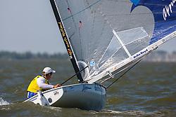 Finn. Day four, May 25th 2012. Delta Lloyd Regatta  (22/26 May 2012). Medemblik - the Netherlands.
