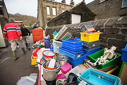 © Licensed to London News Pictures. 28/12/2015. Mytholmroyd UK. Burnley Road Academy in Mytholmroyd has been devastated by flooding, loosing almost everything when the entire ground floor of the primary school flooded. Photo credit: Andrew McCaren/LNP