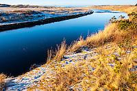 Norway, Rogaland. Figgjoelva river, ending at Selestranda beach.