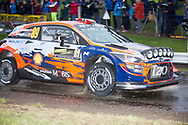 Andreas Mikkelsen(NOR)and Co/Driver Anders Jaeger(NOR)Hyundai i20 Coupe WRCduring the Wales Rally GB at Oulton Park, Budworth, Cheshire, United Kingdom on 3 October 2019.