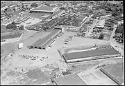 "Ackroyd 03628-4 ""Aerials. West Coast Fast Freight. May 22, 1952"" (Calbag junkyard) 2800 NW 25th Ave."