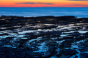 Shoreline along the Gulf of St. Lawrence at sunrise<br />Mont-Louis<br />Quebec<br />Canada