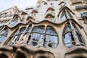 Spain, Barcelona, Casa Mila (La Pedrera) by the architect Antoni Gaudi