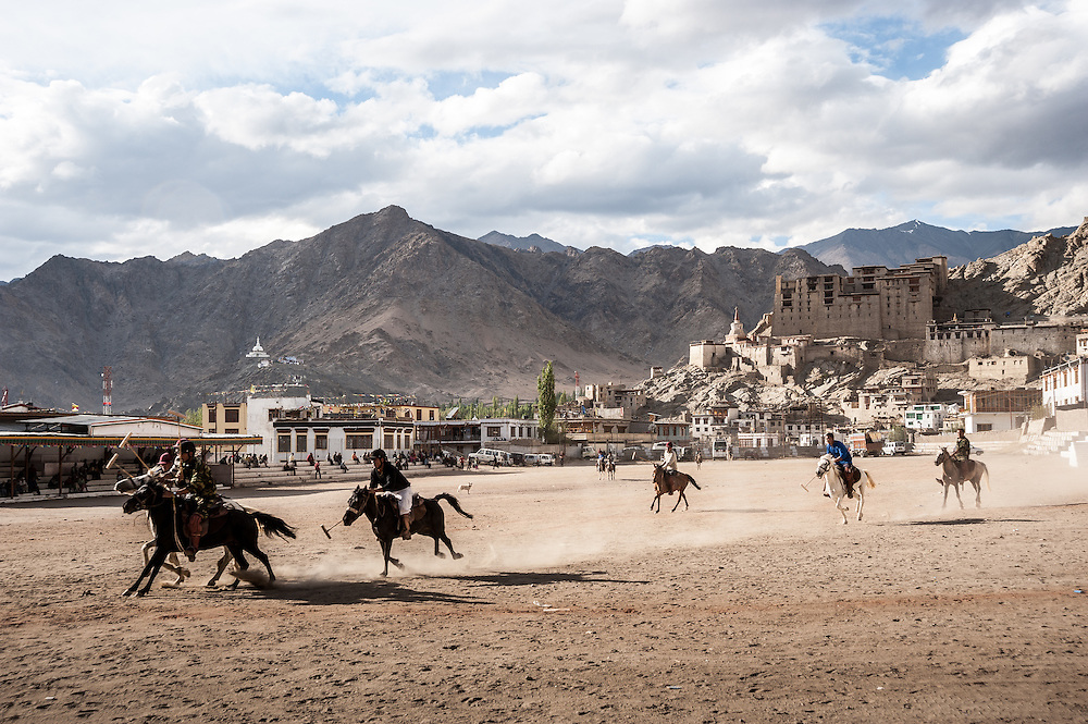 Polo matches take place during the fall at the polo grounds in Leh, Ladakh