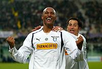 Cagliari 09-01-2005<br /> Campionato  Serie A Tim 2004-2005<br /> Fiorentina Lazio<br /> nella  foto  esultanza gol di Dabo<br /> Foto Snapshot / Graffiti
