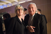 GEORGE SOWDEN; SUZANNE TROCME, Alexandra Shulman, Sir Terence Conran and Deyan Sudjic co -host the opening party of the new Design Museum  in the former Commonwealth Institute pavilion, High Street Kensington London. 22 November 2016.