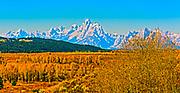 Autumn View of Grand Teton National Park Wyoming