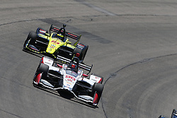 July 8, 2018 - Newton, Iowa, United States of America - MARCO ANDRETTI (98) of the United States battles for position during the Iowa Corn 300 at Iowa Speedway in Newton, Iowa. (Credit Image: © Justin R. Noe Asp Inc/ASP via ZUMA Wire)