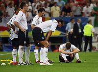 Photo: Chris Ratcliffe.<br /> England v Portugal. Quarter Finals, FIFA World Cup 2006. 01/07/2006.<br /> Gutted England.