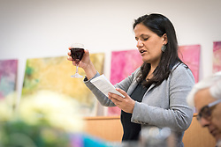 15 March 2019, Jerusalem: Rabbi Tamara Schagas recites the Kiddush, the blessing over the wine, to sanctify the Shabbat. On 15 March, a group of Ecumenical accompaniers from the World Council of Churches were invited to share Shabbat dinner with the Kol HaNeshama congregation in Jerusalem. Kol HaNeshama is a reformed Jewish congregation of 350 families in Jerusalem, and one that works actively to be a focal point for Jewish pluralism and social action in the area.