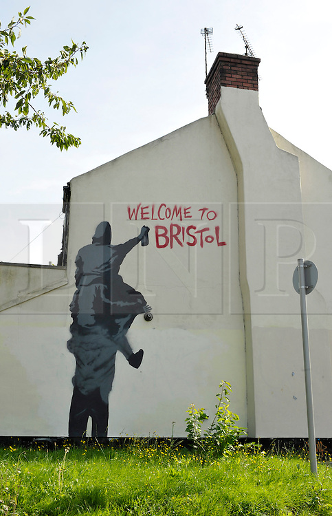 © Licensed to London News Pictures. 06/09/2012. Bristol, UK. Welcome to Bristol graffiti by junction 3 of the M32 coming into Bristol city centre.  06 September 2012..Photo credit : Simon Chapman/LNP