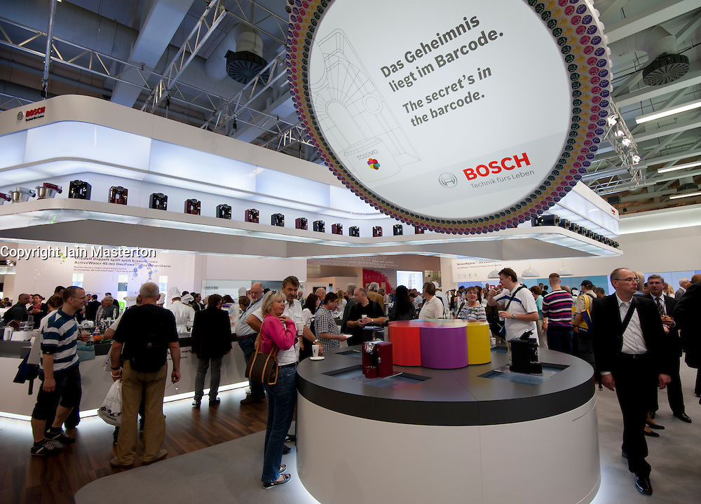 Bosch display stand at IFA consumer electronics trade fair in Berlin Germany 2011