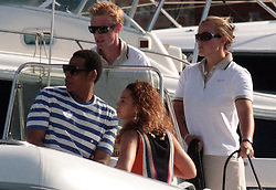 """File picture of JayZ and Beyonce arriving in St Barts Port enjoying St Barts lifestyle. The island was a paradise until September 6, 2017. Hurricane Irma left a trail of """"absolute devastation"""", destroying houses, snapping trees and killing at least eight persons as it tore across the tiny Caribbean island of St Barts on Wednesday with 185-mile-per-hour winds. Photo by Papixs/ABACAPRESS.COM"""