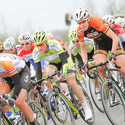DELFZIJL wielrennen, De eerste etappe van de Energiewachttour 2014 werd verreden rond Delfzijl. Annemiek van Vleuten, Ellen van Dijk