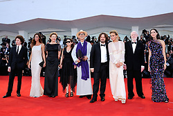 Members of the jury (from left) actress Rebecca Hall, journalist David Stratton, Italian actress Jasmine Trinca, British director Edgar Wright, Hungarian director Ildiko Enyedi, director Yonfan, actress and president of the jury Annette Bening, French actress Anna Mouglalis and Mexican director Michel Franco attending the Opening Ceremony and the Premiere of the movie Downsizing during the 74th Venice International Film Festival (Mostra di Venezia) at the Lido, Venice, Italy on August 30, 2017. Photo by Aurore Marechal/ABACAPRESS.COM