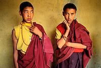 Inde - Province du Jammu Cachemire -  Ladakh - Monastère bouddhiste de Lamayuru - Jeune moine