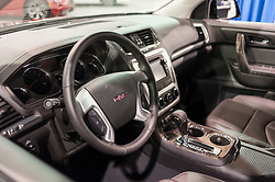 CHARLOTTE, NC, USA - November 11, 2015: GMC Acadia on display during the 2015 Charlotte International Auto Show at the Charlotte Convention Center in downtown Charlotte.
