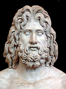 Colossal marble sculpture of the head of Zeus. From Tivoli, found in the villa of the Roman Emperor Hadrian.