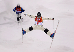 Japan's Nobuyuki Nishi practices during the Freestyle Skiing mens Moguls Entries by Event during a preview day at the Phoenix Snow Park, ahead of the PyeongChang 2018 Winter Olympic Games in South Korea.