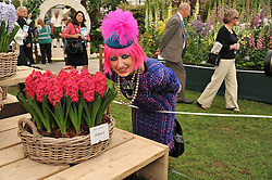 ZANDRA RHODES at the 2011 RHS Chelsea Flower Show VIP & Press Day at the Royal Hospital Chelsea, London, on 23rd May 2011.