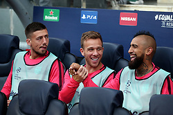 September 18, 2018 - Barcelona, Spain - Clement Lenglet, Arthur and Arturo Vidal during the match between FC Barcelona and PSV Eindhoven, corresponding to the week 1 of the group stage of the UEFA Champions Leage, played at the Camp Nou Stadium, on 18th September, 2018, in Barcelona, Spain. (Credit Image: © Urbanandsport/NurPhoto/ZUMA Press)