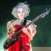 WASHINGTON, DC - March 1st, 2014 - Annie Clark, aka St. Vincent, performs at the first of two sold-out nights at the 9:30 Club in Washington, D.C. Earlier this week, she released her self-titled fourth studio album to great critical acclaim. (Photo by Kyle Gustafson / For The Washington Post)