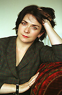 Bestselling Scottish crime writer Denise Mina, pictured at her home in the Glasgow's west end, 16th August, 2000.