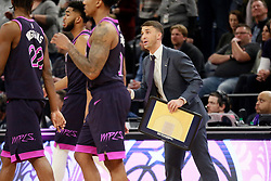 January 11, 2019 - Minneapolis, MN, USA - Minnesota Timberwolves interim head coach Ryan Saunders during the second half of a 119-115 loss against the Dallas Mavericks on Friday, Jan. 11, 2019, at the Target Center in Minneapolis. (Credit Image: © David Joles/Minneapolis Star Tribune/TNS via ZUMA Wire)