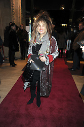 ELIZABETH EMMANUEL at the Cirque du Soleil's gala premier of Quidam held at the Royal Albert Hall, London on 6th January 2009.