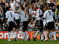 Photo: Steve Bond.<br />Derby County v Nottingham Forest. Pre Season Friendly. 31/07/2007.  Stephen Pearson (R obscured) is congratulated on scoring the first goal
