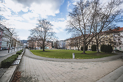 22.03.2020, Leoben, AUT, Coronavirus in Österreich leer Strassen in der Montanstadt aufgrund des Coronavirus, im Bild gesperrter Spielplatz und Parkanlagen // closed playground and parks,empty streets in the Montanstadt due to the Coronavirus Pandemie in Leoben, Austria on 2020/03/22. EXPA Pictures © 2020, PhotoCredit: EXPA/ Dominik Angerer