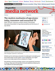 tearsheet from the Guardian; iPad and medical app